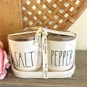 HTF Rae Dunn 🌿 SALT & PEPPER Jar Cellars (NEW)